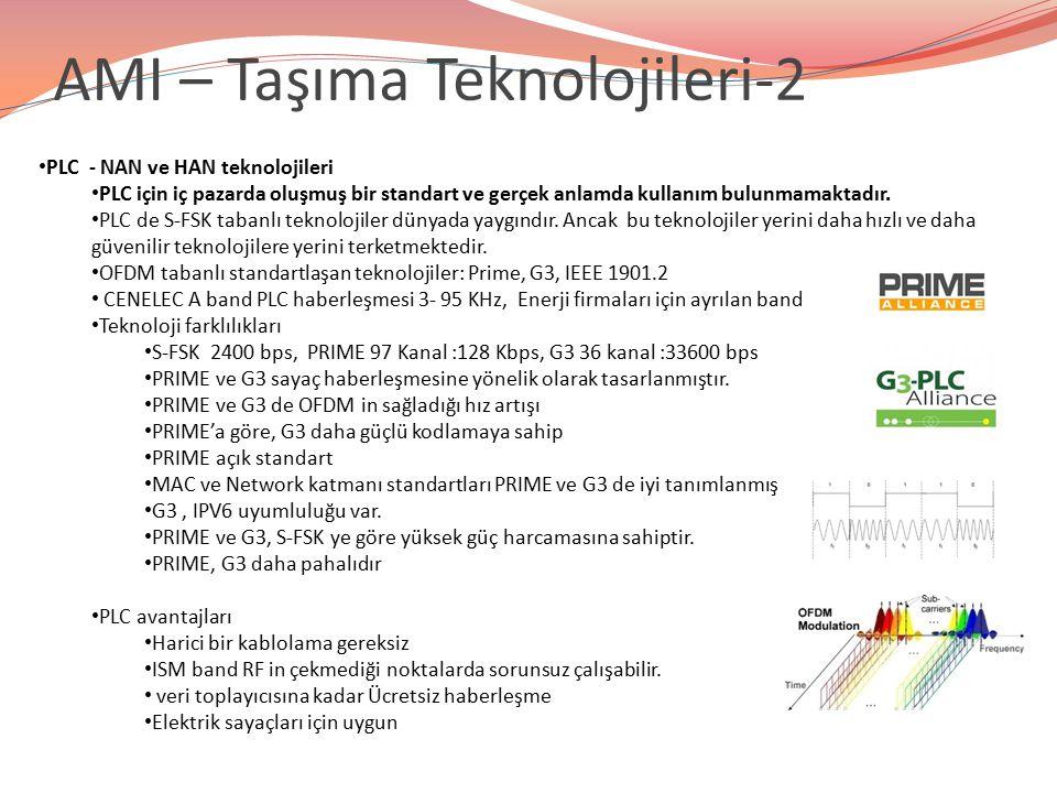 PLC - NAN ve HAN teknolojileri PLC için iç pazarda oluşmuş bir standart ve gerçek anlamda kullanım bulunmamaktadır. PLC de S-FSK tabanlı teknolojiler