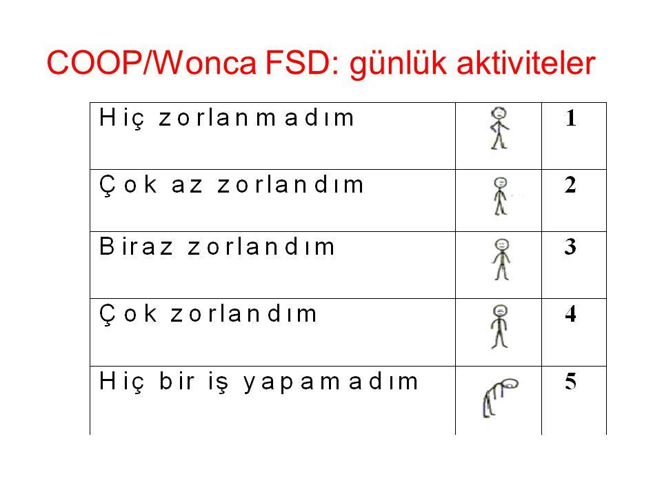 COOP/Wonca FSD: günlük aktiviteler