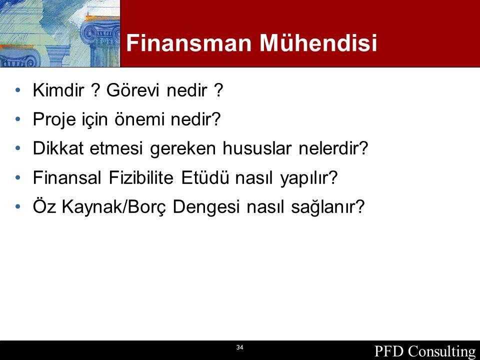 PFD Consulting 34 Finansman Mühendisi Kimdir ? Görevi nedir ? Proje için önemi nedir? Dikkat etmesi gereken hususlar nelerdir? Finansal Fizibilite Etü