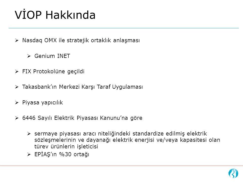  Nasdaq OMX ile stratejik ortaklık anlaşması  Genium INET  FIX Protokolüne geçildi  Takasbank'ın Merkezi Karşı Taraf Uygulaması  Piyasa yapıcılık