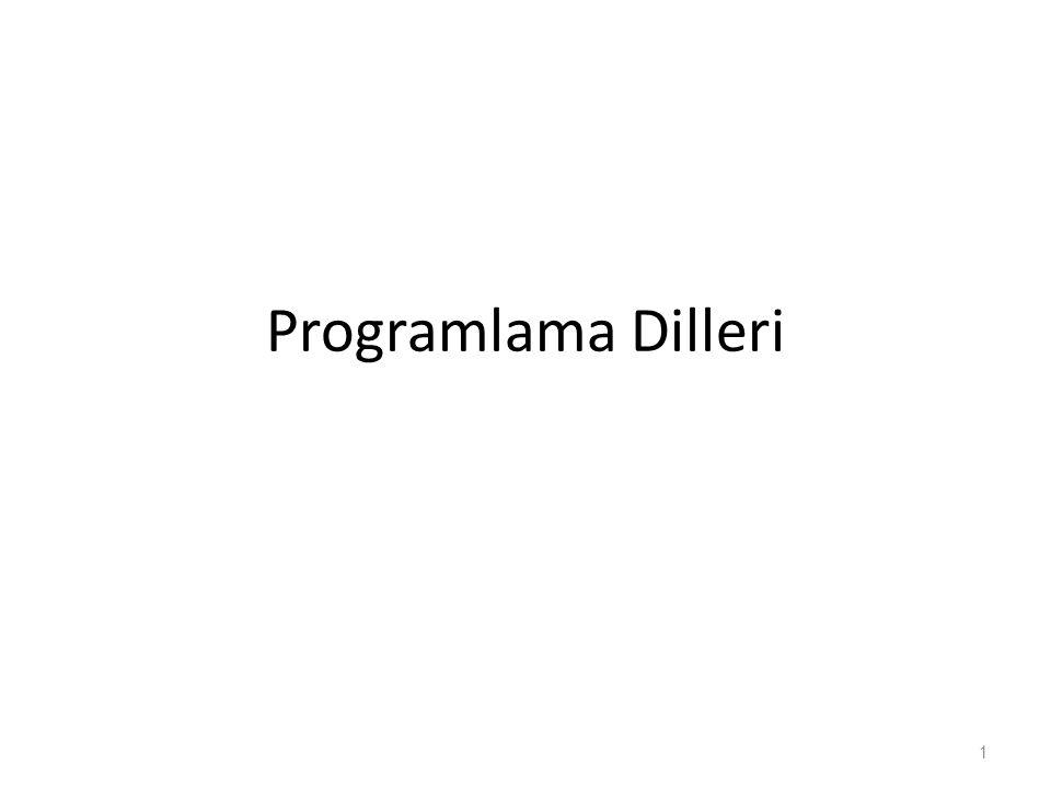 Programlama Dilleri 1