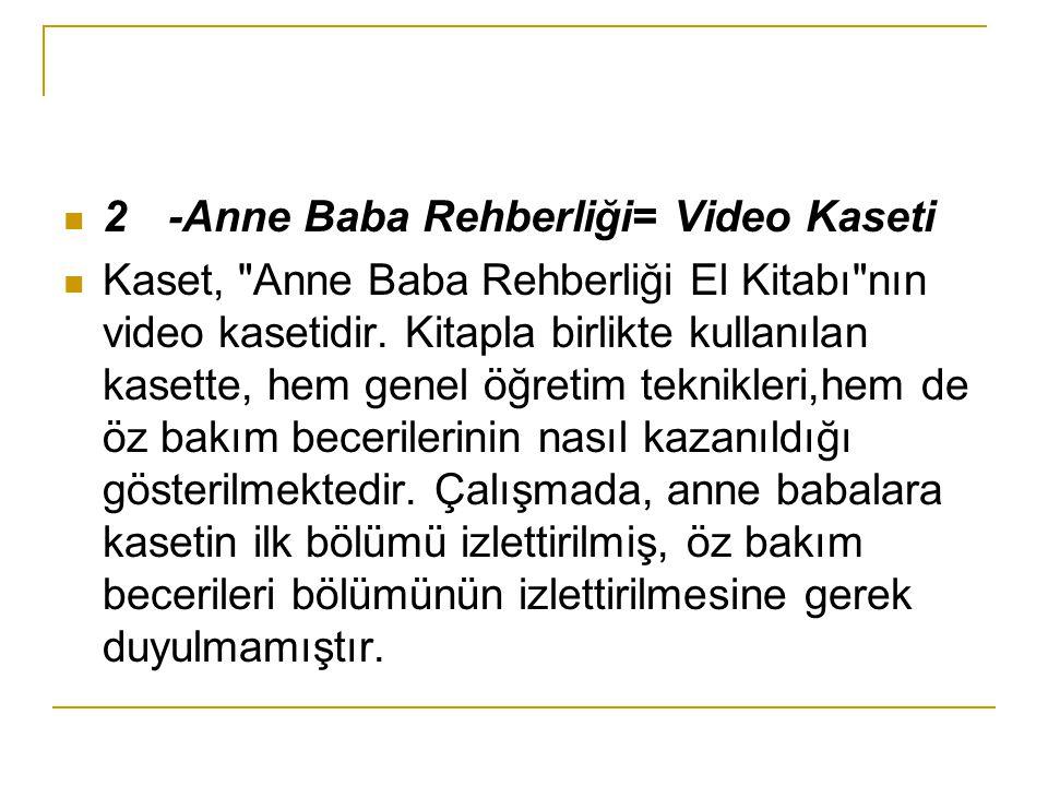 2-Anne Baba Rehberliği= Video Kaseti Kaset,