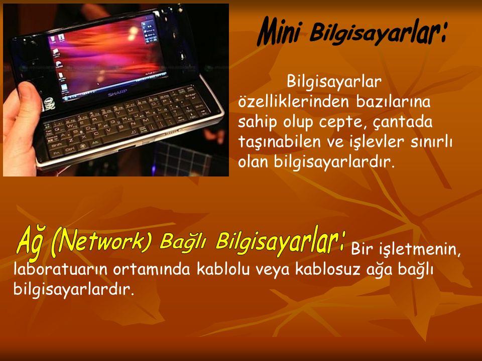 Bilgisayarlar özelliklerinden bazılarına sahip olup cepte, çantada taşınabilen ve işlevler sınırlı olan bilgisayarlardır. Bir işletmenin, laboratuarın