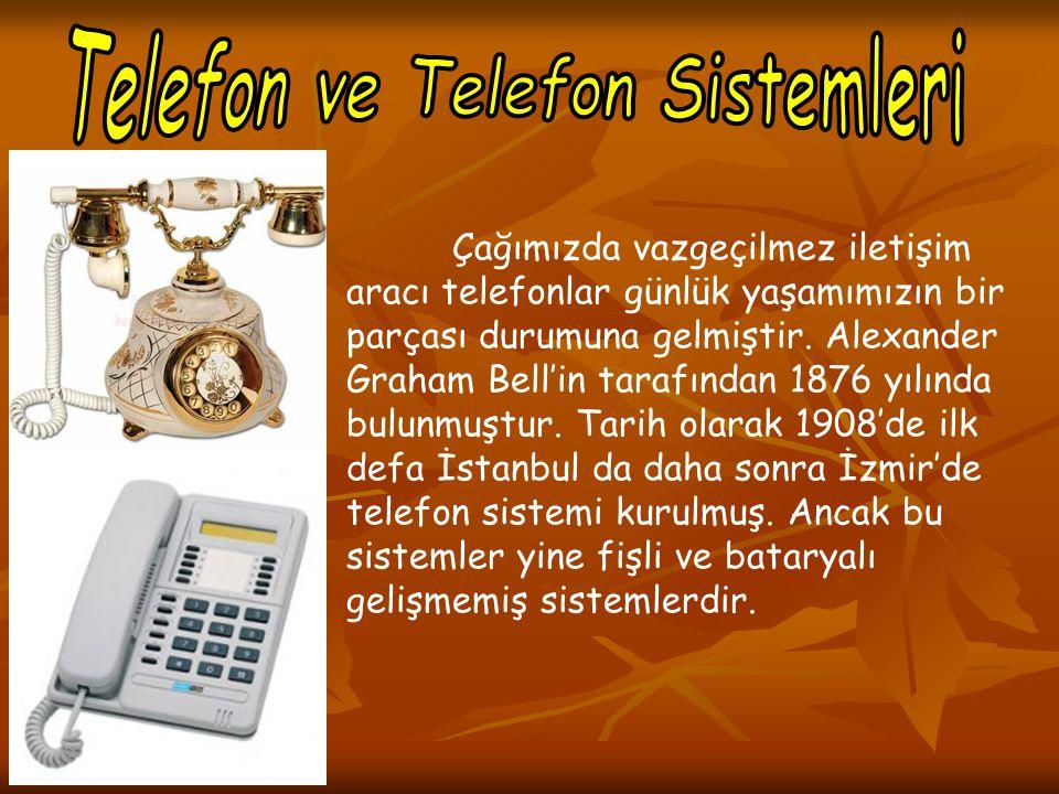 Çağımızda vazgeçilmez iletişim aracı telefonlar günlük yaşamımızın bir parçası durumuna gelmiştir. Alexander Graham Bell'in tarafından 1876 yılında bu