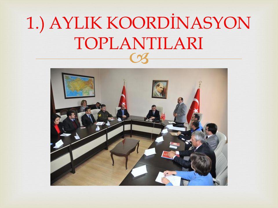  1.) AYLIK KOORDİNASYON TOPLANTILARI