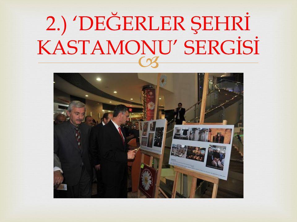  2.) 'DEĞERLER ŞEHRİ KASTAMONU' SERGİSİ