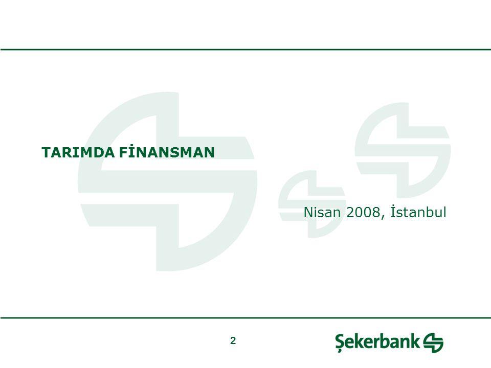 Şekerbank ve Tarım Sektörü / Hasat Kart