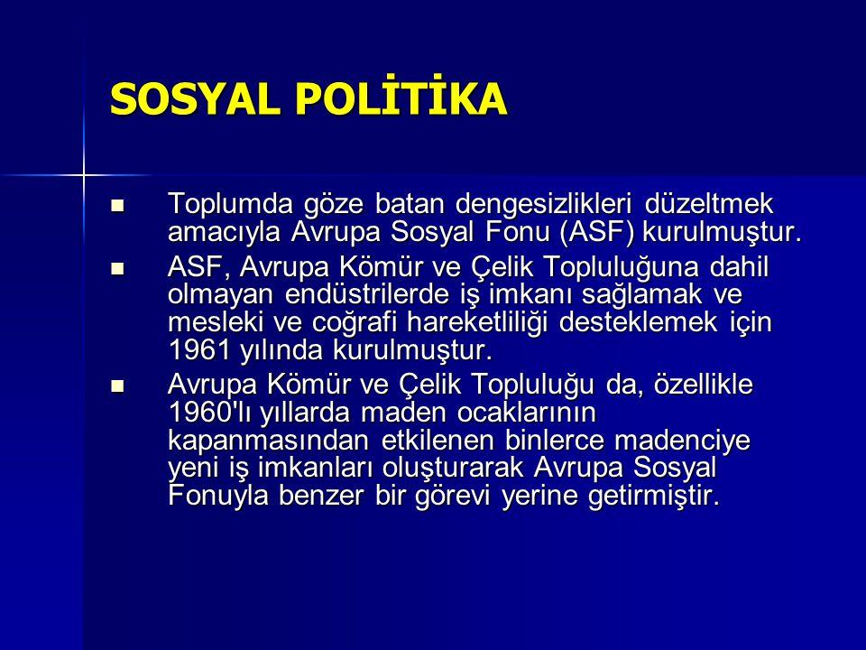 SOSYAL POLİTİKA ESASLARI AB, izlediği sosyal politikalarda, finansal destek sağlamaktan daha fazlasını gerçekleştirmektedir.