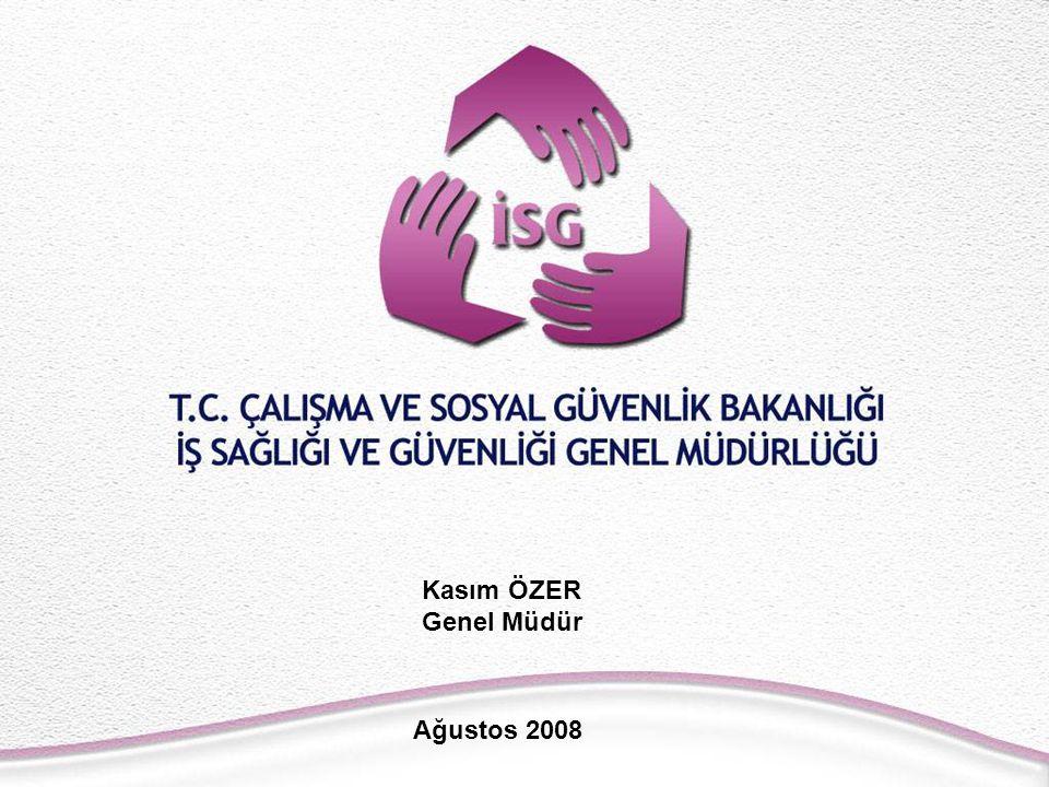 ULUSAL İSG HEDEFLERİ (2006-2008) POLİTİK HEDEFLER: AB normlarına uygun bir İSG Kanununun çıkarılması İş sağlığı ve güvenliğine ilişkin düzenlemelerin bütün çalışanları kapsaması, İş sağlığı ve güvenliğine ilişkin düzenlemelerin bütün işyerlerine yaygınlaştırılması, İş sağlığı ve güvenliği hizmet birimlerinin etkin hale getirilmesi,