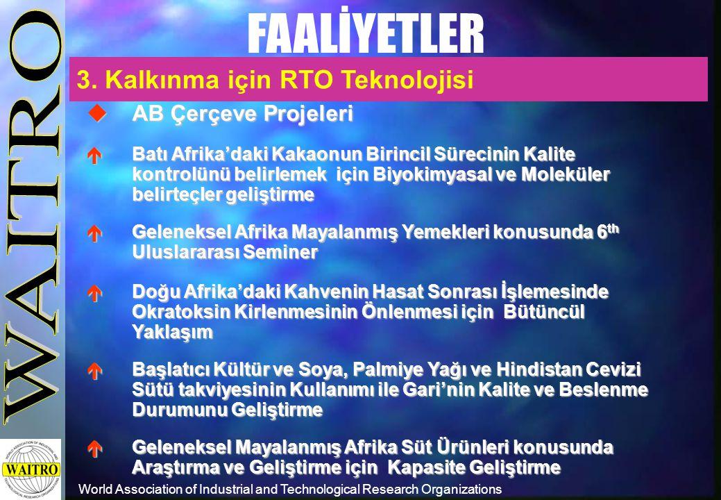 World Association of Industrial and Technological Research Organizations FAALİYETLER  AB Çerçeve Projeleri  Batı Afrika'daki Kakaonun Birincil Sürec