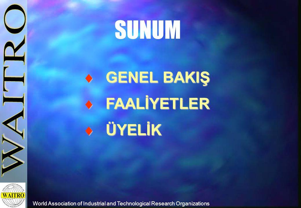  GENEL BAKIŞ  FAALİYETLER  ÜYELİK SUNUM