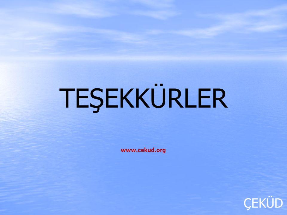 ÇEKÜD TEŞEKKÜRLER www.cekud.org