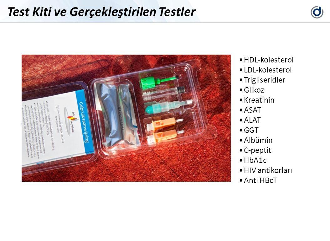 HDL-kolesterol LDL-kolesterol Trigliseridler Glikoz Kreatinin ASAT ALAT GGT Albümin C-peptit HbA1c HIV antikorları Anti HBcT Test Kiti ve Gerçekleştir