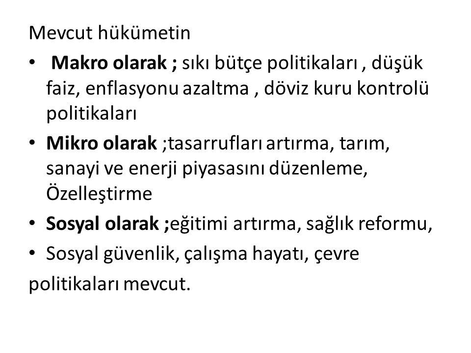 Tasarruflar  Türkiye'nin yüksek büyüme hedefinin gerçekleştirilebilmesi için faktör verimliliklerini artırmanın yanı sıra, üretime yönelik sermaye birikiminde de önemli miktarda artış sağlanması gerekmektedir.