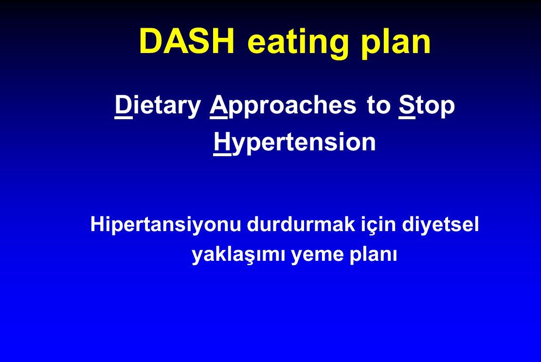 DASH eating plan Dietary Approaches to Stop Hypertension Hipertansiyonu durdurmak için diyetsel yaklaşımı yeme planı