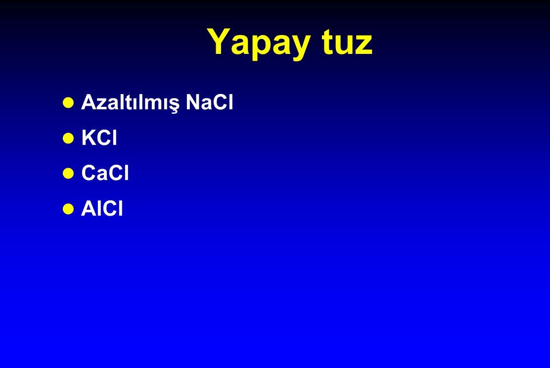 Yapay tuz l Azaltılmış NaCl l KCl l CaCl l AlCl