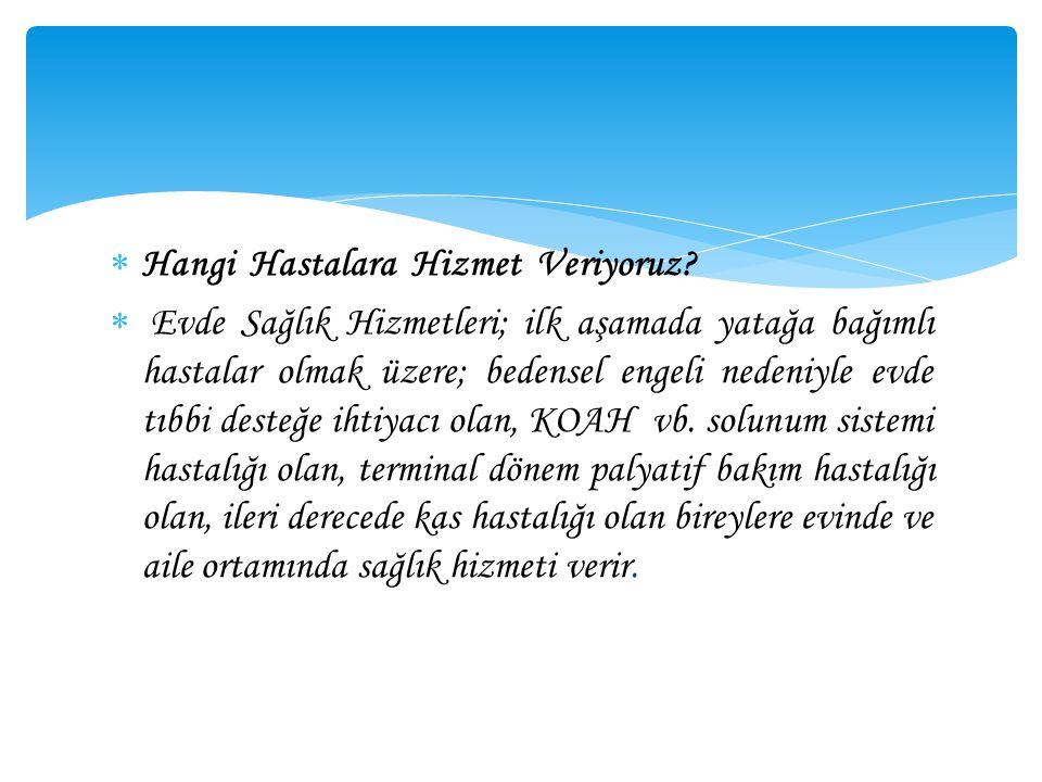 Hizmet Bölgeleri;  14.02.2014 tarihinde Halk Sağlığı Müdürlüğünde yapılan Evde Sağlık Hizmetleri Komisyon toplantısında alınan kararlarda; Osmaniye Devlet Hastanesinin hizmet bölgesi; Osmaniye Merkez Mücavir alan içerisinde kalan hastalar, Bahçe Merkez ve Köylerinde kalan hastalar ile sınırlandırılmış olup,