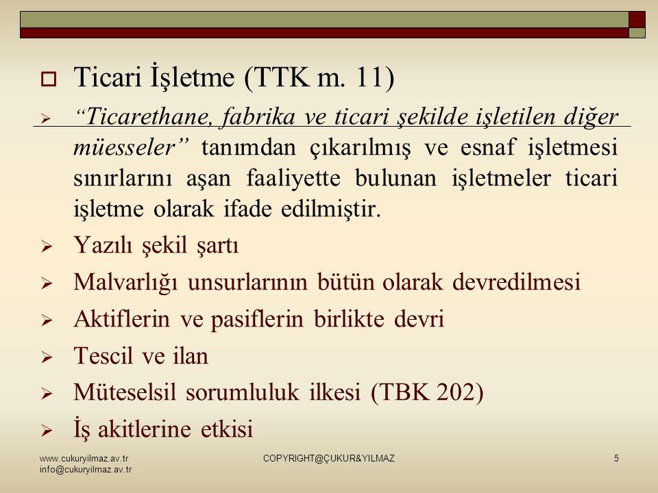  Ticari İşletme (TTK m.