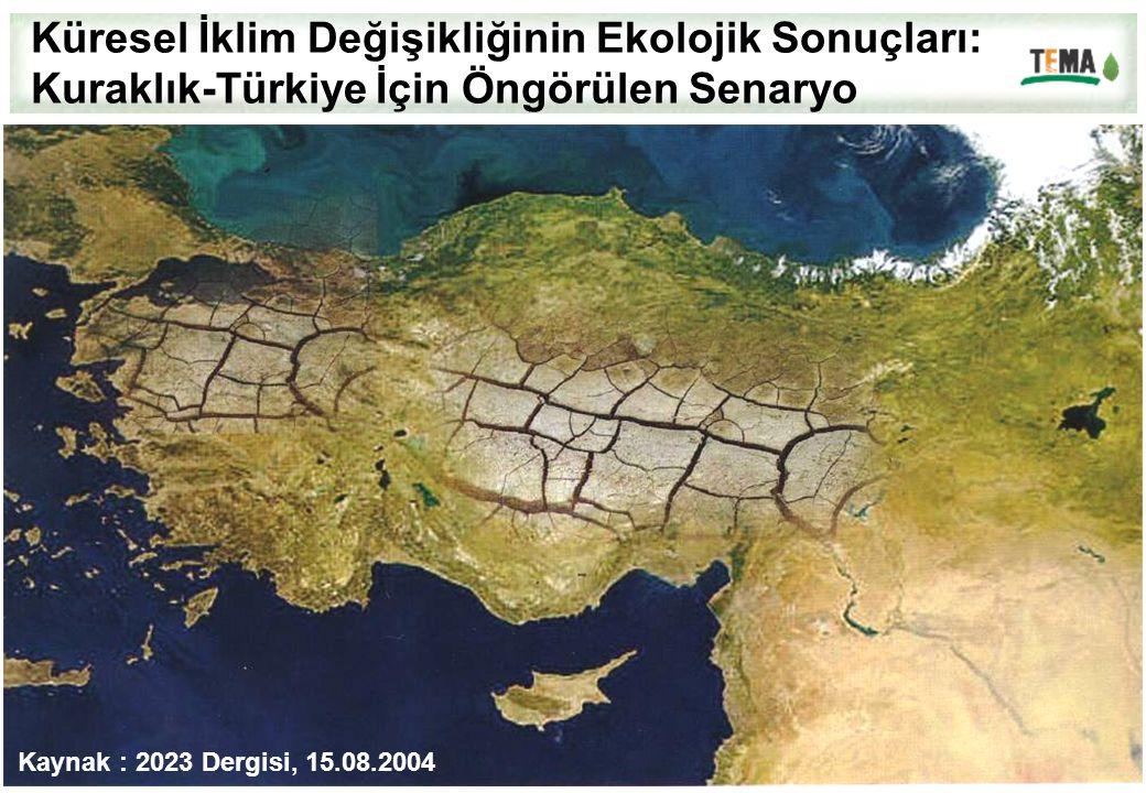 Küresel İklim Değişikliğinin Ekolojik Sonuçları: Kuraklık-Türkiye İçin Öngörülen Senaryo Kaynak : 2023 Dergisi, 15.08.2004