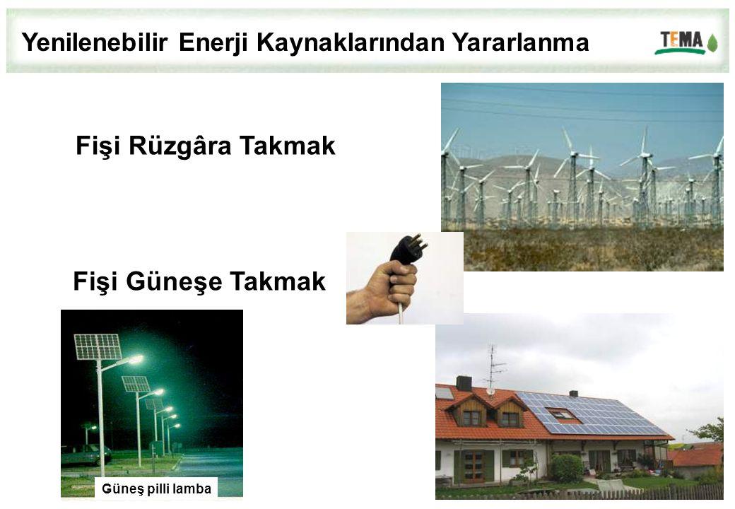Güneş pilli lamba Fişi Rüzgâra Takmak Fişi Güneşe Takmak Yenilenebilir Enerji Kaynaklarından Yararlanma