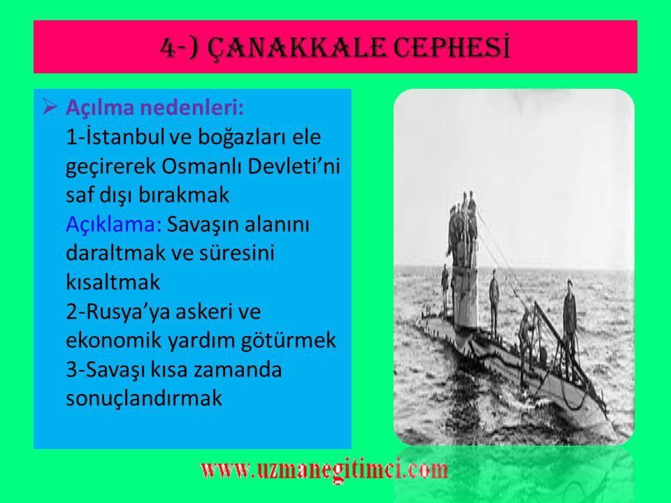3-) IRAK CEPHES İ NOT: Bu cephesinin açılış sebeplerinden biri de Rusya'ya yardım etmekti. Cephenin Özellikleri: 1-İngilizler 24 Kasım 1915'de Ktesifo