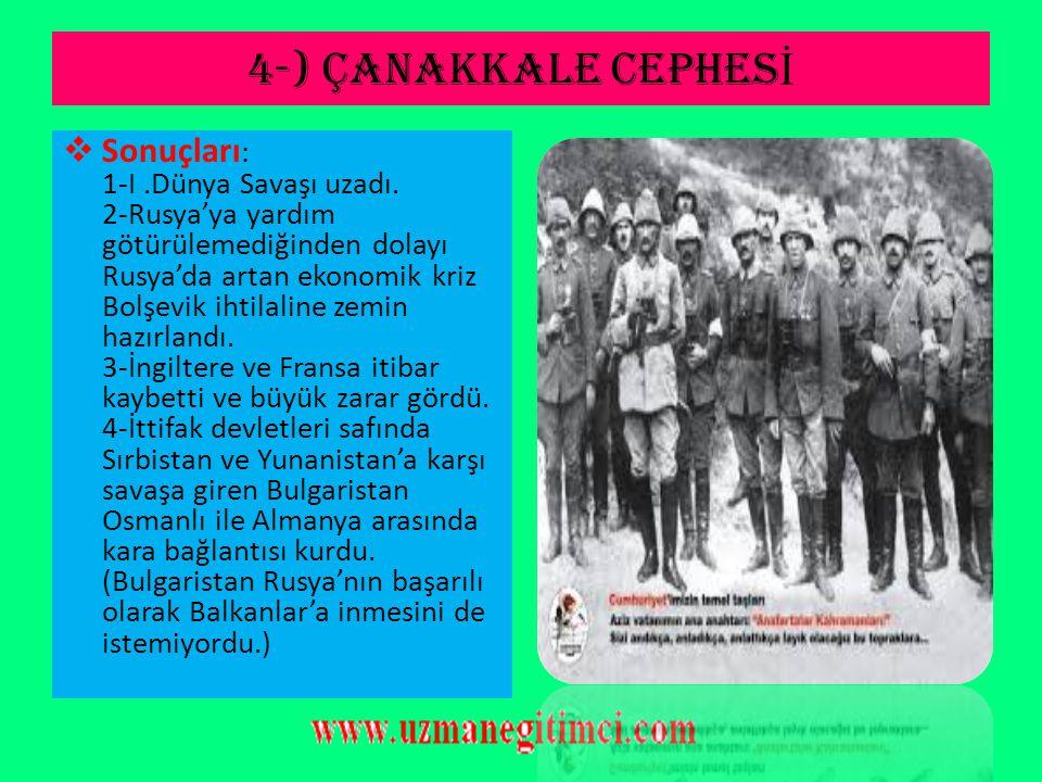 """4-) ÇANAKKALE CEPHES İ  Açıklama: Bu başarılarda; askerlerine """"Ben size taarruzu değil ölmeyi emrediyorum"""" diyen, XIX. tümen komutanı Mustafa Kemal'i"""