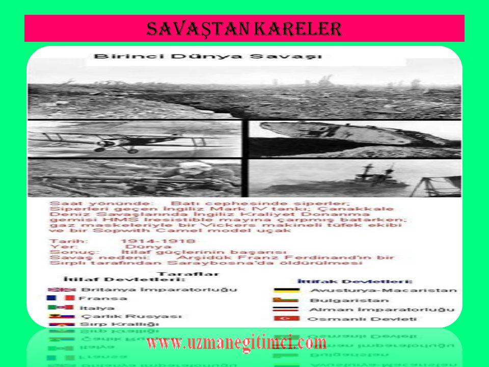 3-) IRAK CEPHES İ NOT: Bu cephesinin açılış sebeplerinden biri de Rusya'ya yardım etmekti.