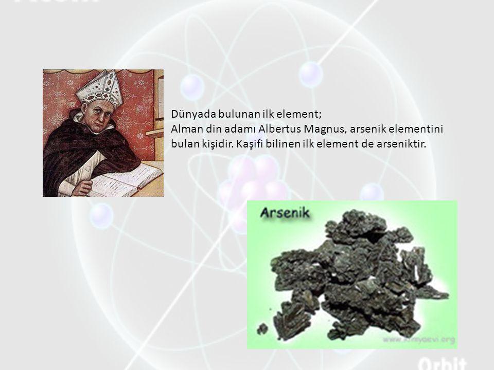 Elementin Tanımı: Aynı cins atomlardan oluşan maddelere element denir.