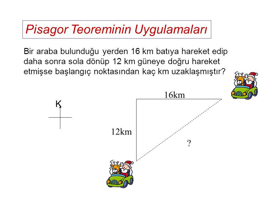Uzun sorulara Pisagor Teoreminin Uygulanması