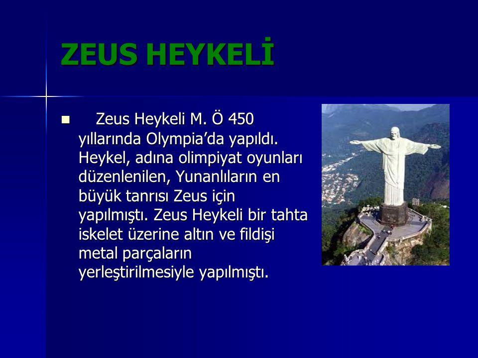 ARTEMİS TAPINAĞI Artemis Tapınağı M.Ö.550 yılında Efes antik kentinde yapıldı.