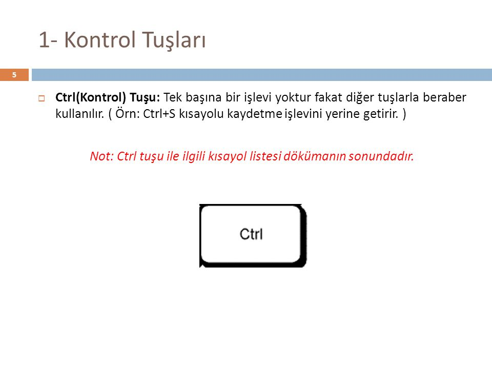 Bilinmesi Gereken Kısayollar  F3 tuşu (Bir dosya ya da klasör ara)  ALT+F4 (Etkin öğeyi kapat veya etkin programdan çık)  F1 tuşu (Yardım görüntüle)  CTRL+ALT+DELETE (Görev yöneticisini başlat)  Windows Logosu+D (Masaüstünü göster)  Windows Logosu+M (Tüm pencereleri küçült)  CTRL+ Sayısal Tuş : CTRL tuşu ile 2 harfinin olduğu tuşa aynı anda basarsanız, Tarayıcınızda ki 2.
