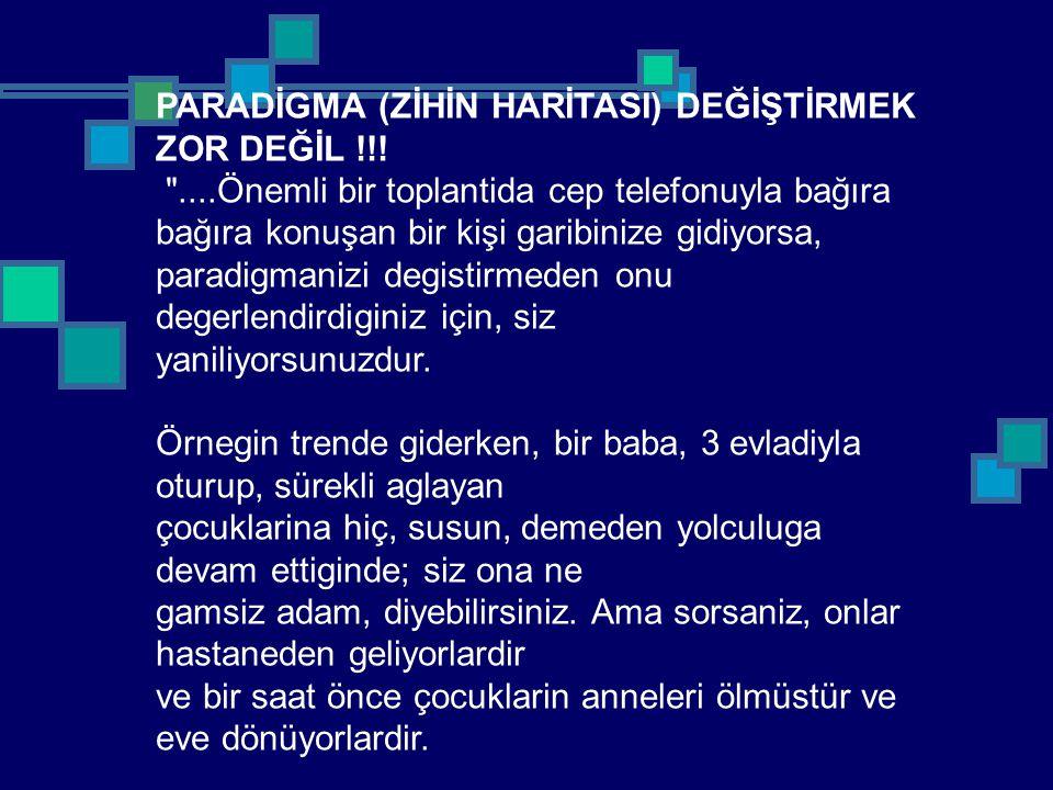 PARADİGMA (ZİHİN HARİTASI) DEĞİŞTİRMEK ZOR DEĞİL !!!
