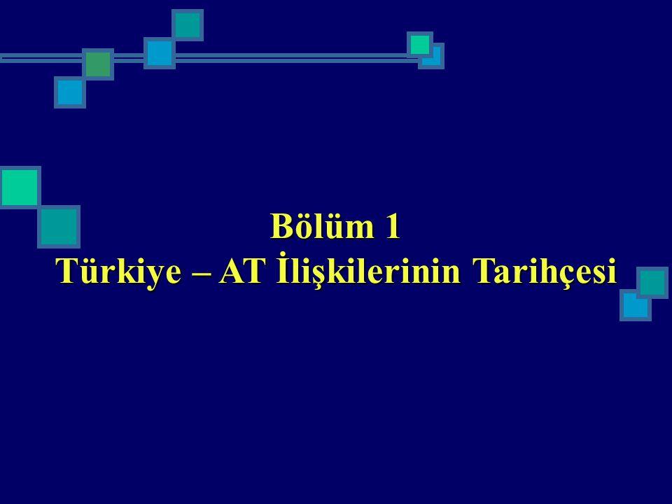 Bölüm 1 Türkiye – AT İlişkilerinin Tarihçesi