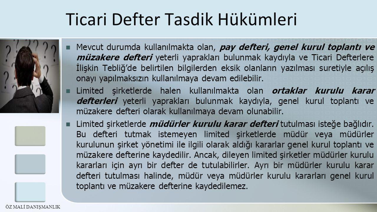 Yeni TTK'da Cezalar Görüntü ve veri taşıyıcılara aktarılmış belgelerin hazır bulundurulmaması 4.481 TL İdari Para Cezası Gümrük ve Ticaret Bakanlığı denetim elemanlarına bilgi ve belge verilmemesi Üçyüz günden az olmamak üzere adlî para cezası (6.000 TL ile 73.000 TL arasında) Finansal tabloların düzenlenmesinde Türkiye Muhasebe Standartlarına uyulmaması 4.481 TL İdari Para Cezası Önceki ismi tümüyle şirkete borçlanılması idi.