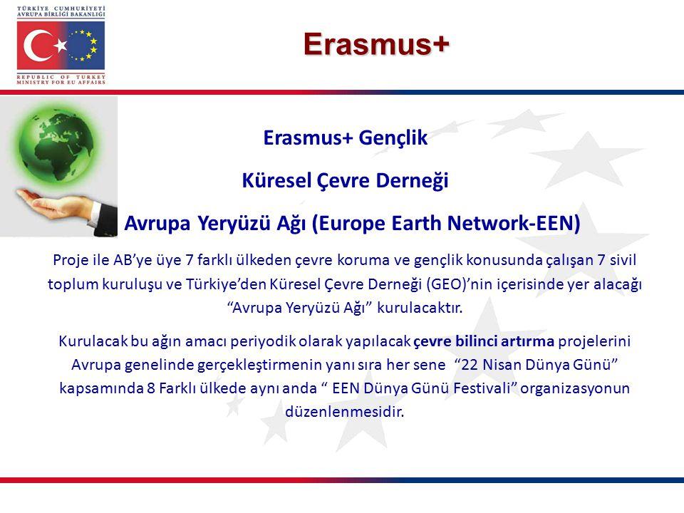 Erasmus+ Gençlik Küresel Çevre Derneği Avrupa Yeryüzü Ağı (Europe Earth Network-EEN) Proje ile AB'ye üye 7 farklı ülkeden çevre koruma ve gençlik konu