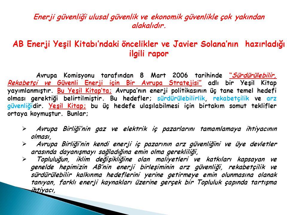 Türkiye'nin Çevresindeki Petrol ve Doğalgaz Boru Hattı Projeleri