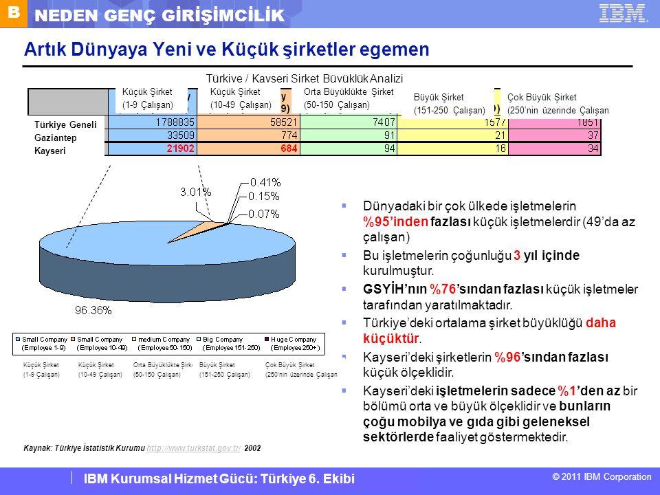 IBM Corporate Service Corps : Turkey Team 6 © 2011 IBM Corporation IBM Kurumsal Hizmet Gücü: Türkiye 6. Ekibi Artık Dünyaya Yeni ve Küçük şirketler eg