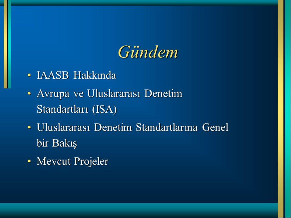 Gündem IAASB HakkındaIAASB Hakkında Avrupa ve Uluslararası Denetim Standartları (ISA)Avrupa ve Uluslararası Denetim Standartları (ISA) Uluslararası De