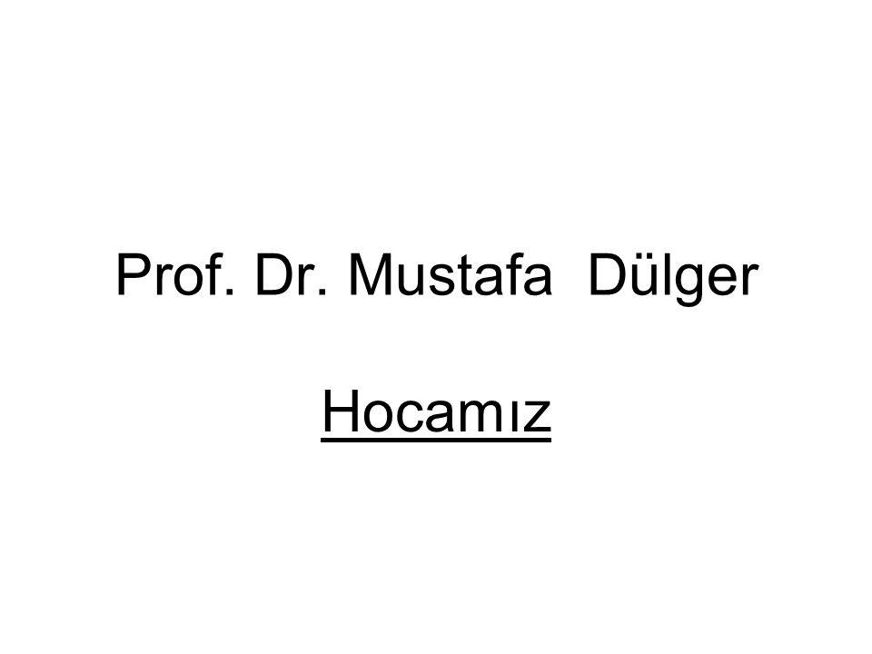 Prof. Dr. Mustafa Dülger Hocamız