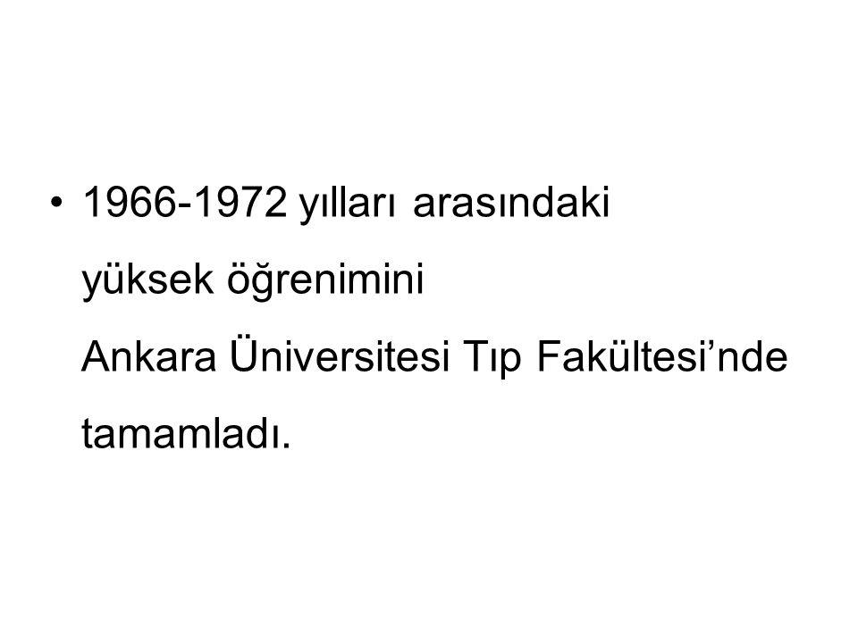 1972-1977 yıllarında Diyarbakır Dicle Üniversitesi Tıp Fakültesi Genel Cerrahi Anabilim Dalı'nda uzman oldu.