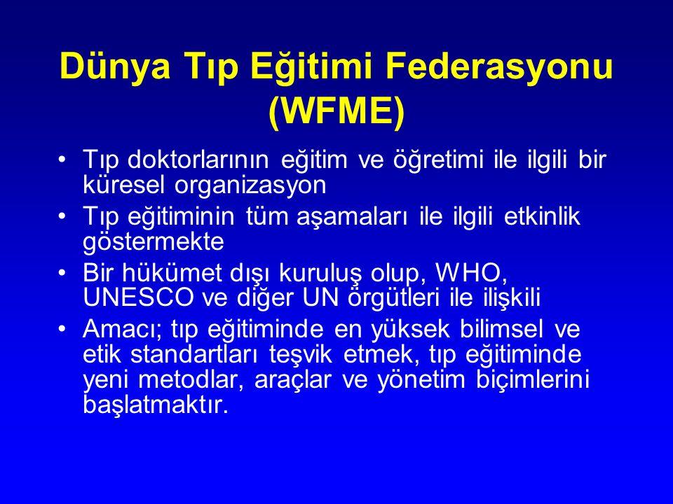 Dünya Tıp Eğitimi Federasyonu (WFME) Tıp doktorlarının eğitim ve öğretimi ile ilgili bir küresel organizasyon Tıp eğitiminin tüm aşamaları ile ilgili