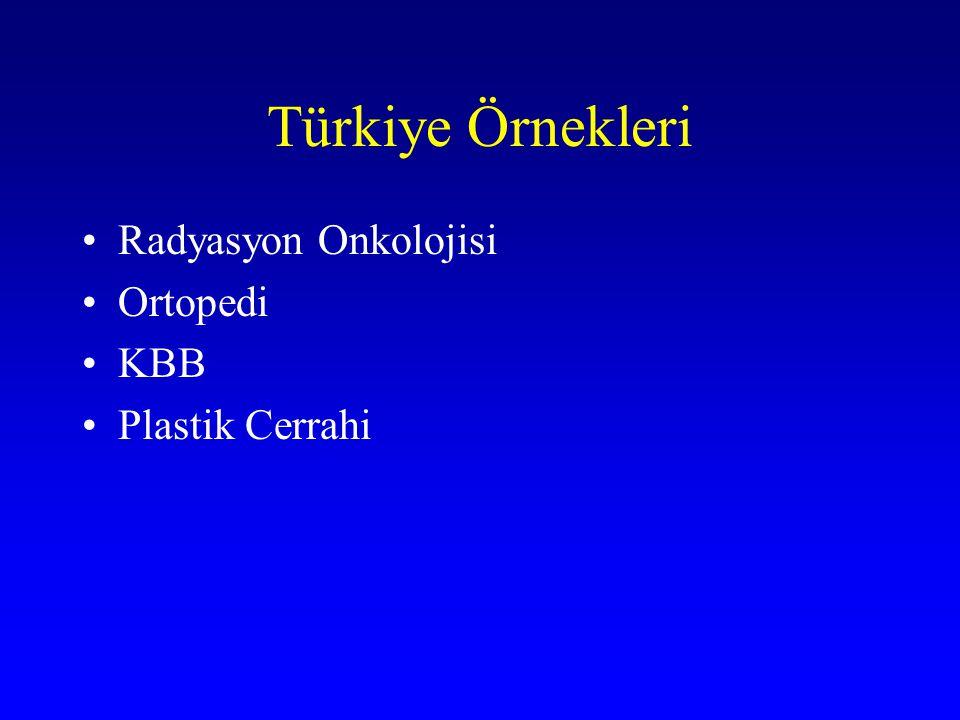 Türkiye Örnekleri Radyasyon Onkolojisi Ortopedi KBB Plastik Cerrahi