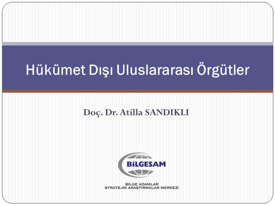HÜKÜMET DIŞI ULUSLARARASI ÖRGÜTLER 8. ÜNİTE Doç. Dr. Atilla SANDIKLI