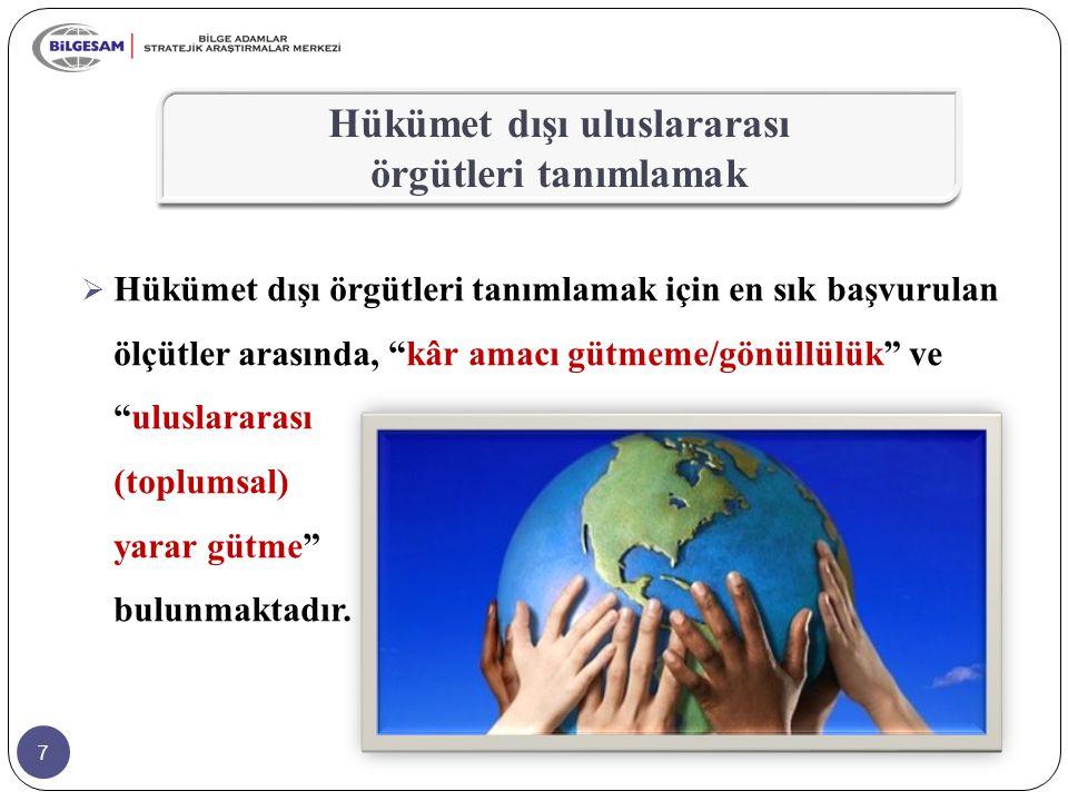 8  Uluslararası ilişkiler sahası genelde devletler ve özelikle 20.