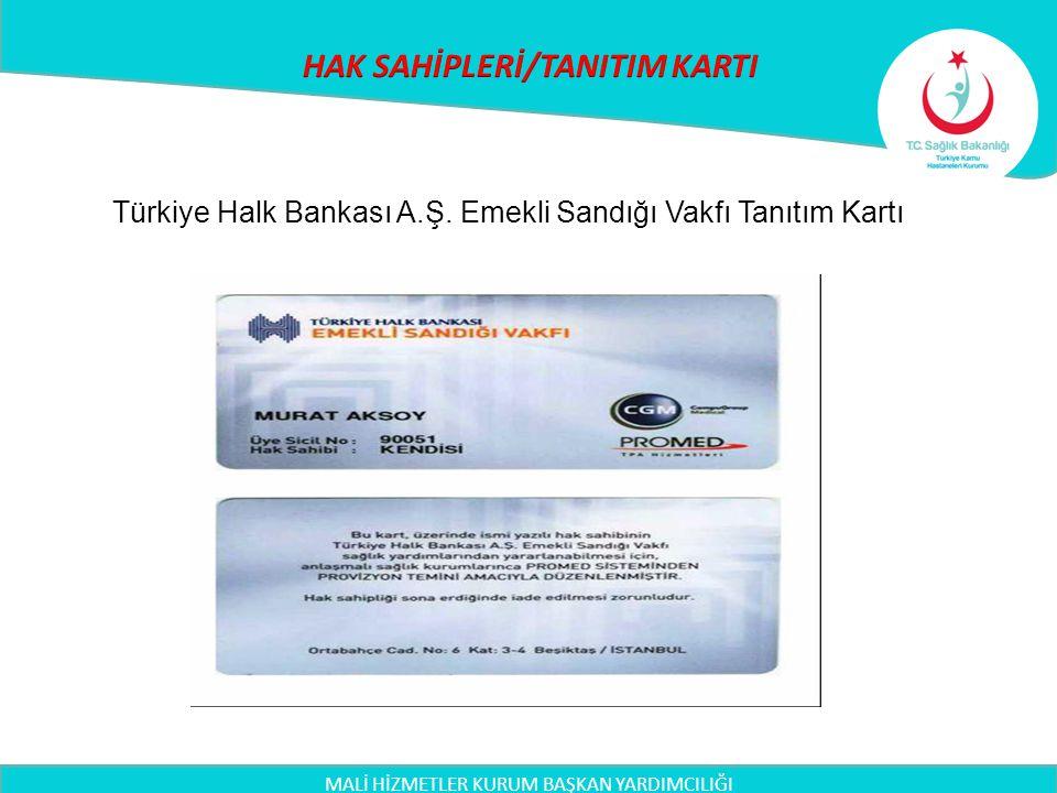 MALİ HİZMETLER KURUM BAŞKAN YARDIMCILIĞI Türkiye Halk Bankası A.Ş. Emekli Sandığı Vakfı Tanıtım Kartı