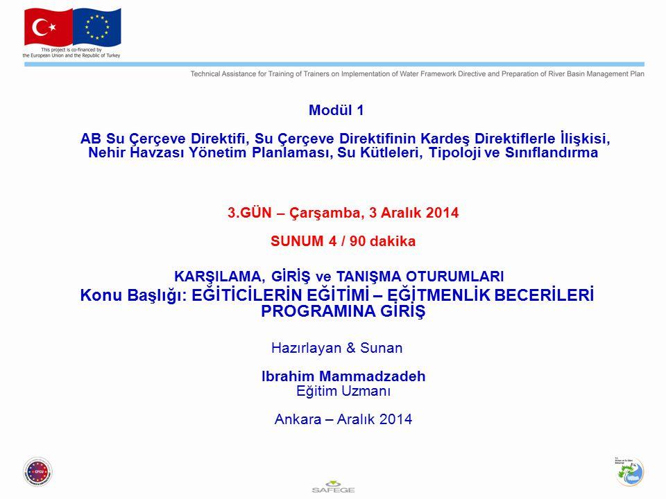 Modül 1 AB Su Çerçeve Direktifi, Su Çerçeve Direktifinin Kardeş Direktiflerle İlişkisi, Nehir Havzası Yönetim Planlaması, Su Kütleleri, Tipoloji ve Sı