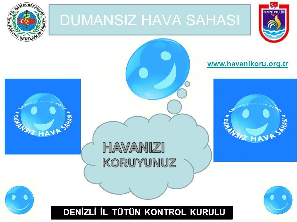 DUMANSIZ HAVA SAHASI DENİZLİ İL TÜTÜN KONTROL KURULU www.havanikoru.org.tr