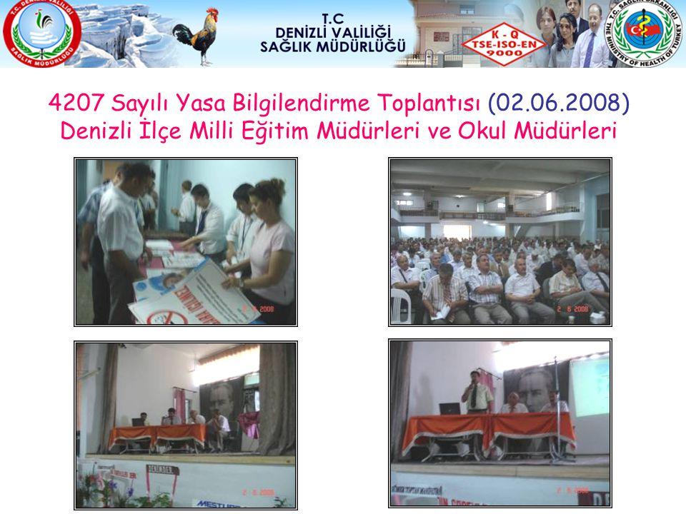 4207 Sayılı Yasa Bilgilendirme Toplantısı (02.06.2008) Denizli İlçe Milli Eğitim Müdürleri ve Okul Müdürleri