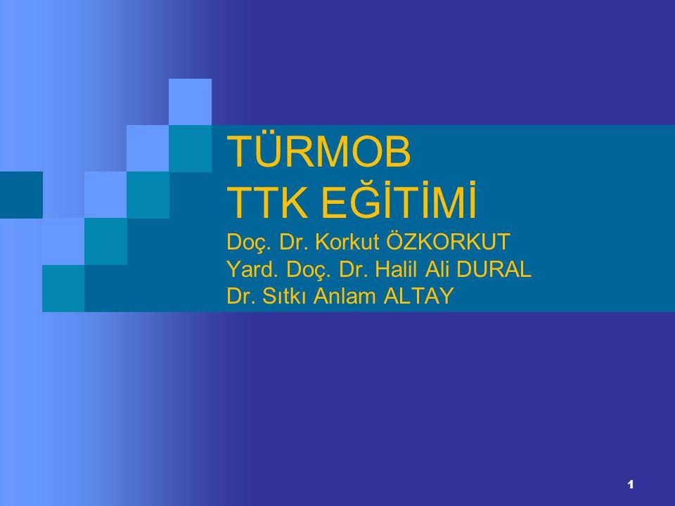 1 TÜRMOB TTK EĞİTİMİ Doç. Dr. Korkut ÖZKORKUT Yard. Doç. Dr. Halil Ali DURAL Dr. Sıtkı Anlam ALTAY