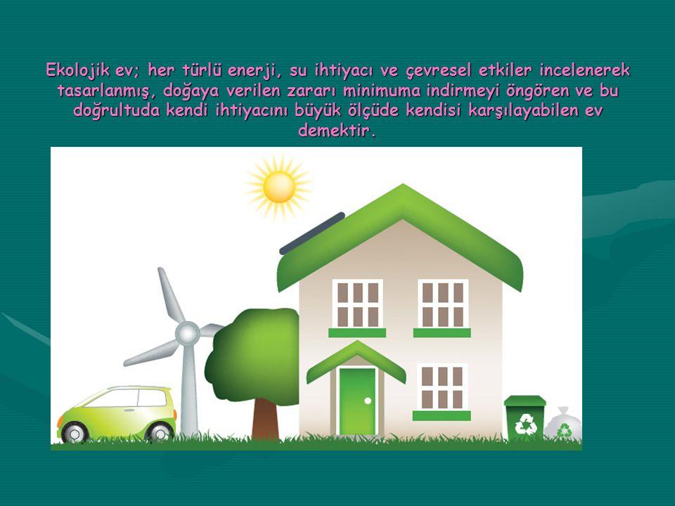 Resimde görüldüğü gibi hidroflorokarbon içermeyen doğa dostu yalıtım malzemeleri kullanmak ekolojik evlerde çok tercih edilen bir yalıtım sistemidir.